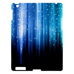 Blue Abstract Vectical Lines Apple Ipad 3/4 Hardshell Case by BangZart