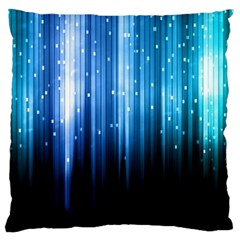 Blue Abstract Vectical Lines Large Cushion Case (one Side)