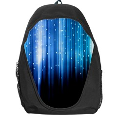 Blue Abstract Vectical Lines Backpack Bag by BangZart