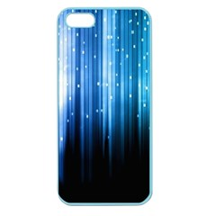 Blue Abstract Vectical Lines Apple Seamless Iphone 5 Case (color) by BangZart