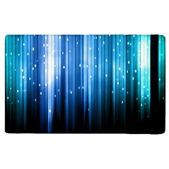 Blue Abstract Vectical Lines Apple Ipad 2 Flip Case by BangZart