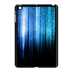 Blue Abstract Vectical Lines Apple Ipad Mini Case (black)