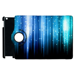 Blue Abstract Vectical Lines Apple Ipad 2 Flip 360 Case by BangZart