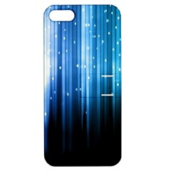 Blue Abstract Vectical Lines Apple Iphone 5 Hardshell Case With Stand by BangZart