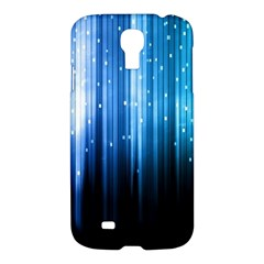 Blue Abstract Vectical Lines Samsung Galaxy S4 I9500/i9505 Hardshell Case by BangZart