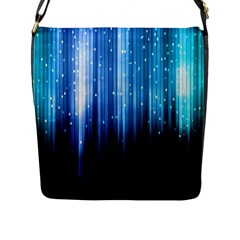 Blue Abstract Vectical Lines Flap Messenger Bag (l)  by BangZart
