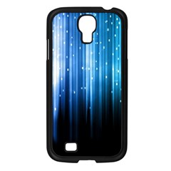 Blue Abstract Vectical Lines Samsung Galaxy S4 I9500/ I9505 Case (black) by BangZart