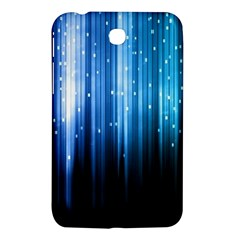 Blue Abstract Vectical Lines Samsung Galaxy Tab 3 (7 ) P3200 Hardshell Case  by BangZart