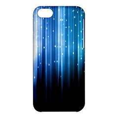 Blue Abstract Vectical Lines Apple Iphone 5c Hardshell Case by BangZart
