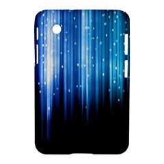 Blue Abstract Vectical Lines Samsung Galaxy Tab 2 (7 ) P3100 Hardshell Case  by BangZart
