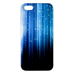 Blue Abstract Vectical Lines Iphone 5s/ Se Premium Hardshell Case by BangZart