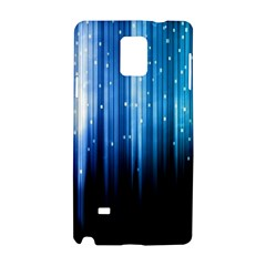 Blue Abstract Vectical Lines Samsung Galaxy Note 4 Hardshell Case by BangZart