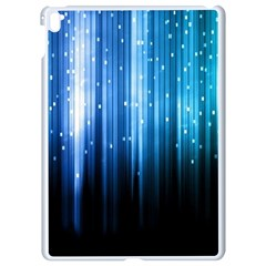 Blue Abstract Vectical Lines Apple Ipad Pro 9 7   White Seamless Case by BangZart