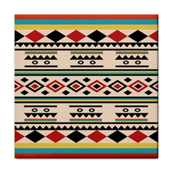 Tribal Pattern Tile Coasters