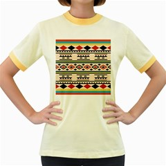 Tribal Pattern Women s Fitted Ringer T Shirts
