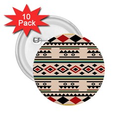 Tribal Pattern 2 25  Buttons (10 Pack)