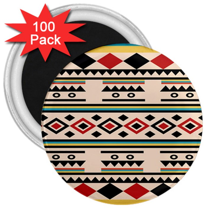 Tribal Pattern 3  Magnets (100 pack)