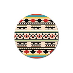 Tribal Pattern Magnet 3  (round) by BangZart