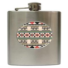 Tribal Pattern Hip Flask (6 Oz)