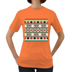Tribal Pattern Women s Dark T Shirt by BangZart