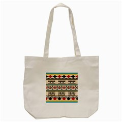 Tribal Pattern Tote Bag (cream)