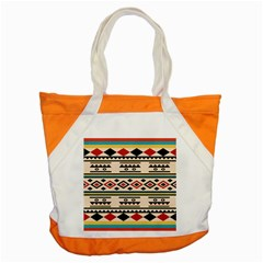 Tribal Pattern Accent Tote Bag by BangZart