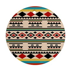 Tribal Pattern Round Ornament (two Sides)