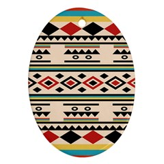 Tribal Pattern Oval Ornament (two Sides) by BangZart