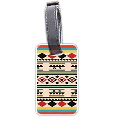 Tribal Pattern Luggage Tags (one Side)  by BangZart