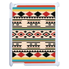 Tribal Pattern Apple Ipad 2 Case (white) by BangZart