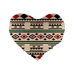 Tribal Pattern Standard 16  Premium Heart Shape Cushions by BangZart