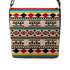 Tribal Pattern Flap Messenger Bag (l)  by BangZart