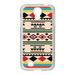 Tribal Pattern Samsung Galaxy S4 I9500/ I9505 Case (white)