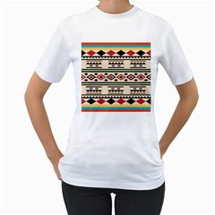 Tribal Pattern Women s T Shirt (white)