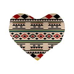 Tribal Pattern Standard 16  Premium Flano Heart Shape Cushions by BangZart