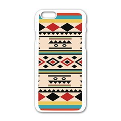 Tribal Pattern Apple Iphone 6/6s White Enamel Case by BangZart