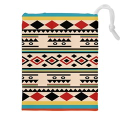 Tribal Pattern Drawstring Pouches (xxl) by BangZart