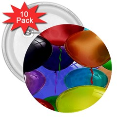 Colorful Balloons Render 3  Buttons (10 Pack)  by BangZart