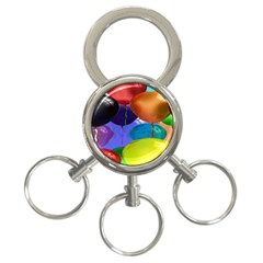 Colorful Balloons Render 3 Ring Key Chains by BangZart