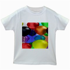 Colorful Balloons Render Kids White T Shirts