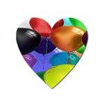 Colorful Balloons Render Heart Magnet Front