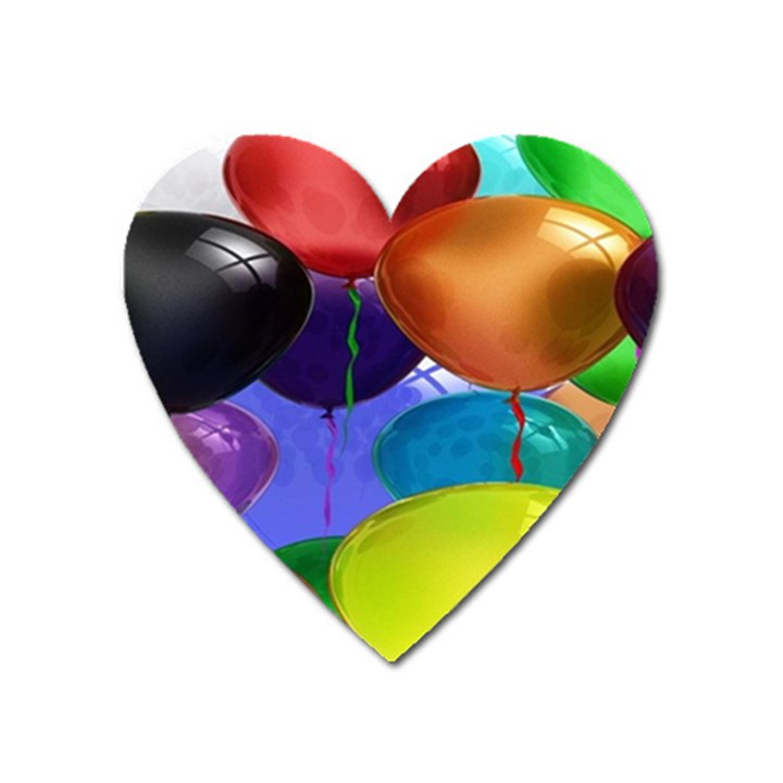 Colorful Balloons Render Heart Magnet