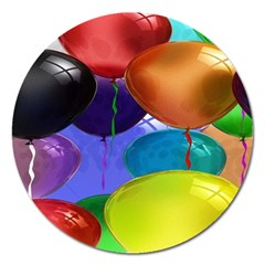 Colorful Balloons Render Magnet 5  (round) by BangZart