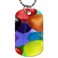Colorful Balloons Render Dog Tag (one Side)