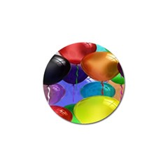 Colorful Balloons Render Golf Ball Marker (4 Pack) by BangZart
