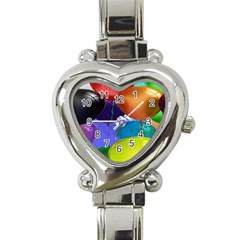 Colorful Balloons Render Heart Italian Charm Watch