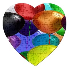 Colorful Balloons Render Jigsaw Puzzle (heart)