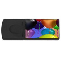 Colorful Balloons Render Usb Flash Drive Rectangular (4 Gb)