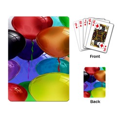 Colorful Balloons Render Playing Card