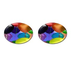 Colorful Balloons Render Cufflinks (oval)
